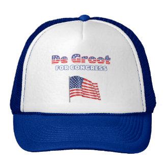 De Groot for Congress Patriotic American Flag Desi Cap