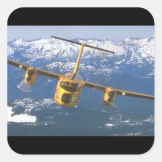 De Havilland Buffalo. (buffalo_Military Aircraft Square Sticker
