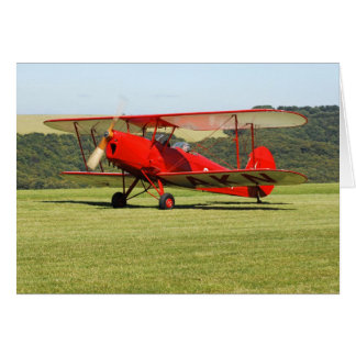 De Havilland Tigermoth Bi-Plane Card