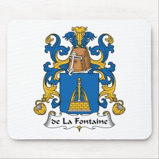 de la Fontaine Family Crest Mouse Pad