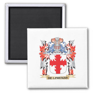 De-Lorenzo Coat of Arms - Family Crest Square Magnet