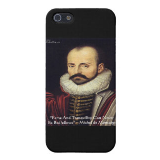"de Montaigne ""Bedfellows"" Wisdom Quote Gifts Cases For iPhone 5"