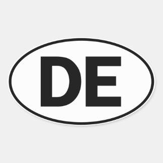 DE Oval Identity Sign Oval Sticker