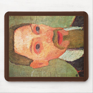 De: Portrait Of Rainer Maria Rilke By Paula Mouse Pad