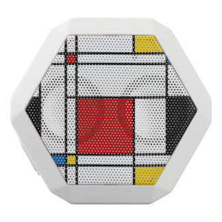 De Stijl Pattern White Boombot Rex Bluetooth Speaker
