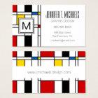 De Stijl Pattern Business Card