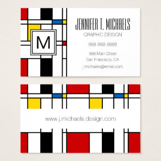 De Stijl Pattern Business Card