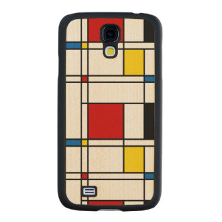 De Stijl Pattern Carved® Maple Galaxy S4 Slim Case
