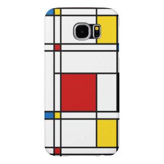 De Stijl Pattern Samsung Galaxy S6 Cases
