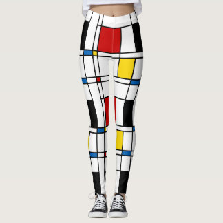 De Stijl Pattern Leggings