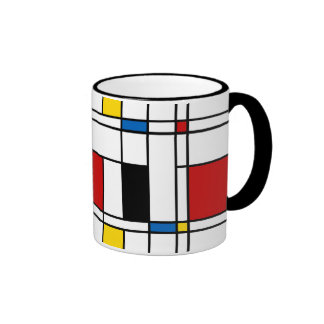 De Stijl Pattern Mugs