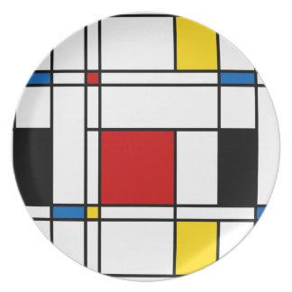 De Stijl Pattern Plate