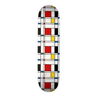 De Stijl Pattern Skate Deck