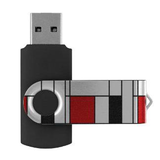 De Stijl Pattern Swivel USB 2.0 Flash Drive