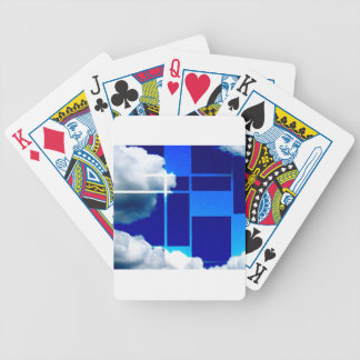 De Stijl Sky Bicycle Playing Cards