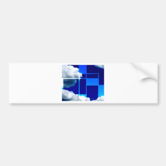 De Stijl Sky Bumper Sticker