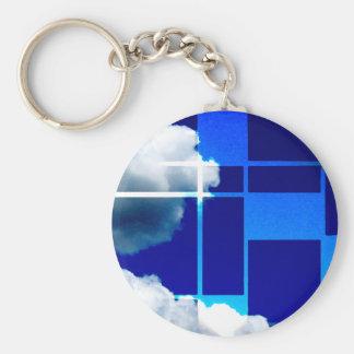 De Stijl Sky Key Ring