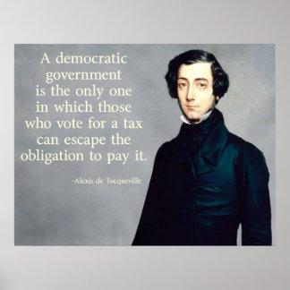 de Tocqueville Taxes Quote Posters