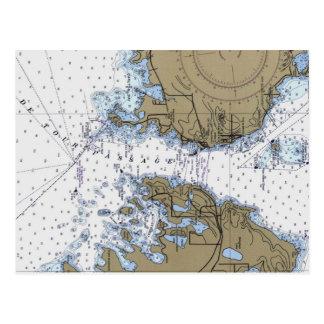 De Tour Passage Nautical Chart Postcard