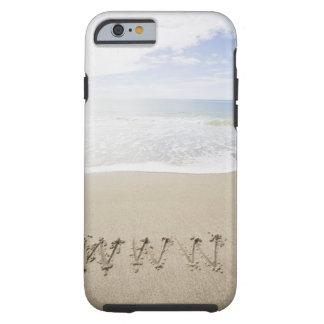 De V.S., Massachusetts, WWW op zandig strand wordt Tough iPhone 6 Case