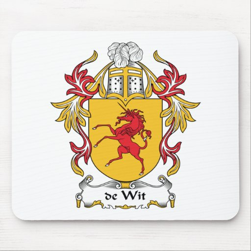 de Wit Family Crest Mouse Pad