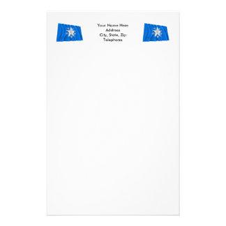 de Zavala Flag of Texas Customized Stationery