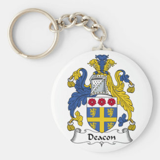Deacon Family Crest Basic Round Button Key Ring