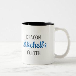 Deacon's personalized coffee mug