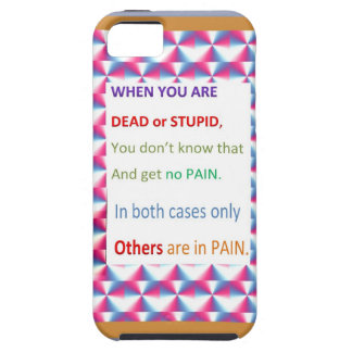DEAD and STUPID  -  Humor Comedy Reality iPhone 5 Covers