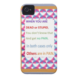 DEAD and STUPID  -  Humor Comedy Reality iPhone 4 Cover