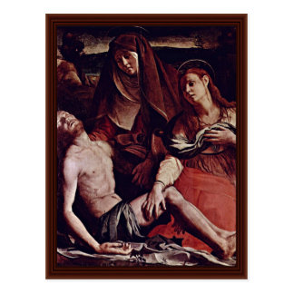Dead Christ And Mary Magdalene By Bronzino Angelo Postcard