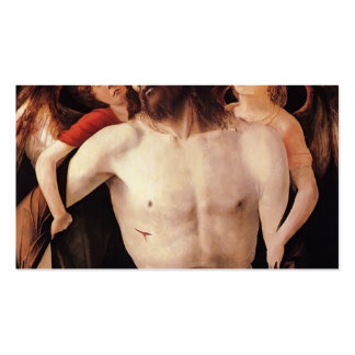 Dead Christ Supported by Angel by Giovanni Bellini Business Cards