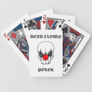 dead clown poker bicycle playing cards