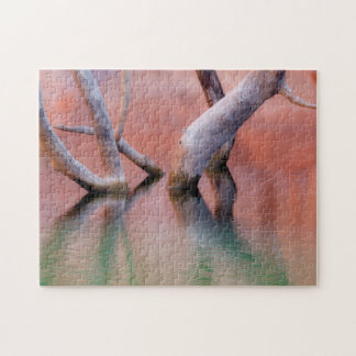 Dead Cottonwood Trunks in Lake | Utah Jigsaw Puzzle
