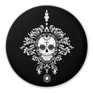 Dead Damask - Chic Sugar Skull Ceramic Pull