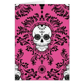 Dead Damask - Chic Sugar Skull Custom Card
