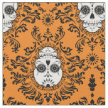 Dead Damask - Chic Sugar Skull Damask Pattern Fabric