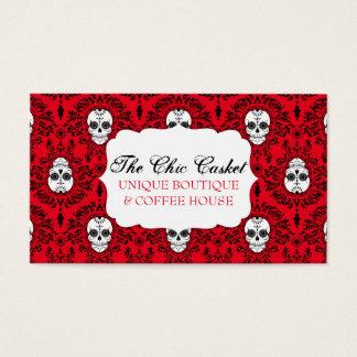 Dead Damask - Chic Sugar Skulls Custom Bizcards Business Card