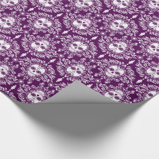 Dead Damask - Chic Sugar Skulls Wrapping Paper