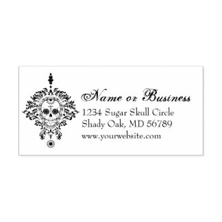 Dead Damask Custom Address Self Inking Stamp
