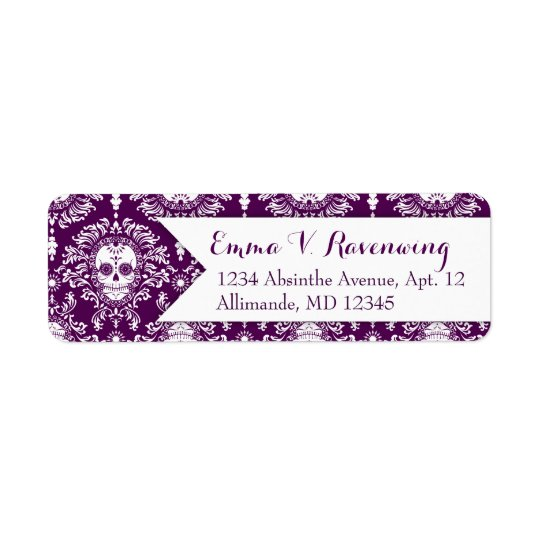 Dead Damask - Custom Sugar Skull Return Address Return Address Label