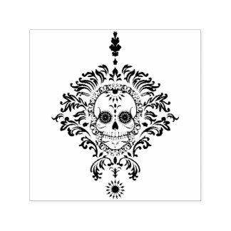 Dead Damask Ornate Sugar Skull Self Inking Stamp