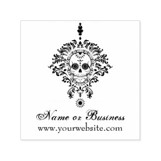 Dead Damask Personalised Text Self Inking Stamp