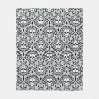 Dead Damask Sugar Skull Pattern Fleece Blanket