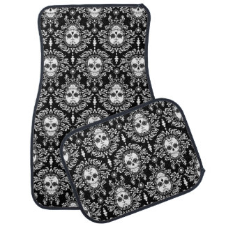 Dead Damask Sugar Skulls Car Mat
