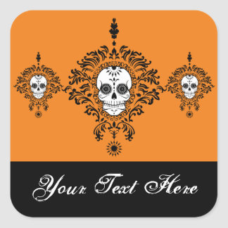 Dead Damask Trio - Custom Sugar Skull Stickers