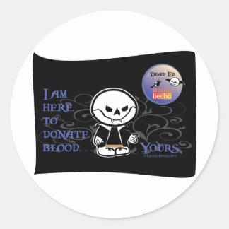 Dead Ed Vampire Donation Stickers