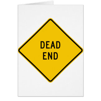 Dead End Highway Sign Greeting Card