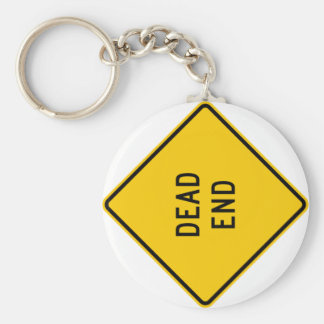 Dead End Highway Sign Keychain