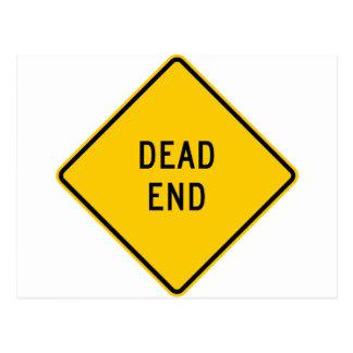 Dead End Highway Sign Postcards
